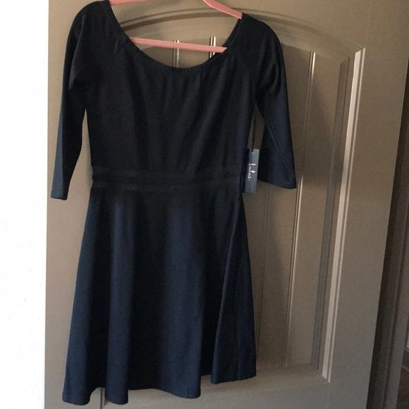 Lulus Dresses Yes To The Mesh Black Skater Dress Nwt Poshmark